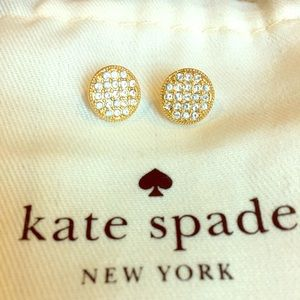 Kate Spade Gold Pave Earrings